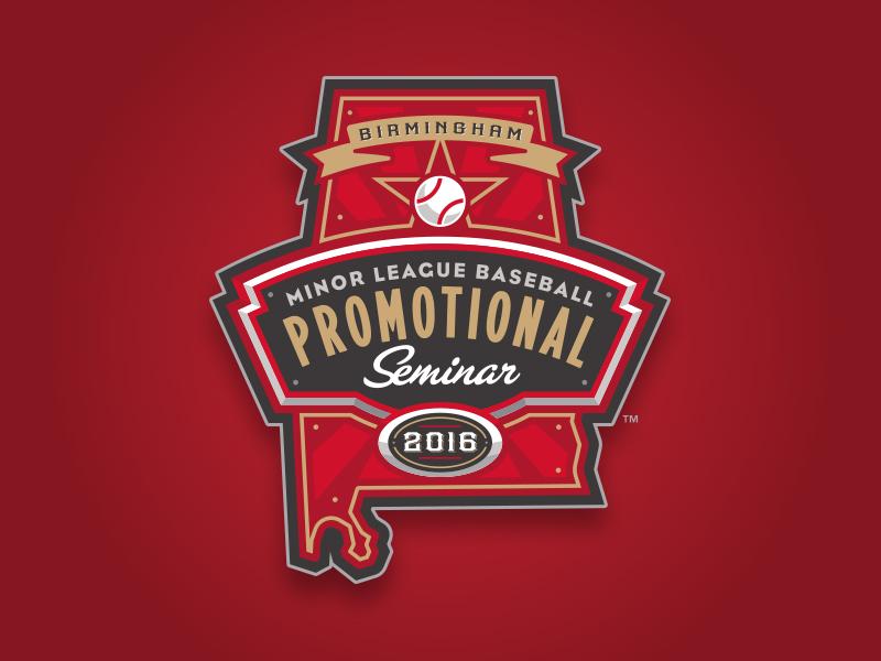 Minor League Baseball 2016 Promo Seminar league state star ribbon alabama athletic bat baseball lettering typography custom type design