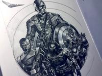 Captain America Concept Poster Sketch