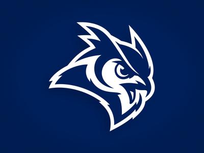 Rice University horn adidas typography athletics baseball college talon owl bird illustration custom design
