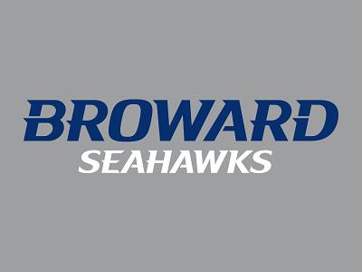 Broward College Seahawks font design typography hawk seahawks college basketball baseball athletic sports illustration custom design