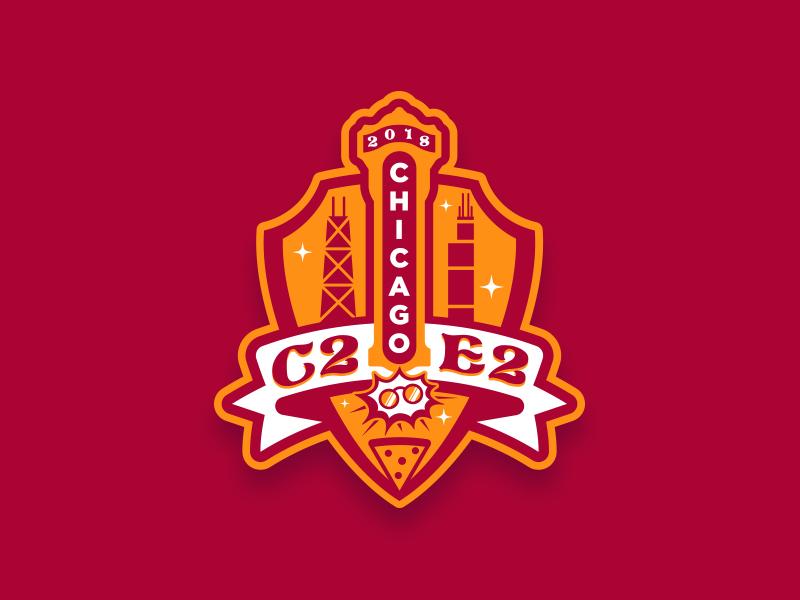 Chicago Comic & Entertainment Expo harry potter pizza chicago shield convention con comics font design typography illustration custom design