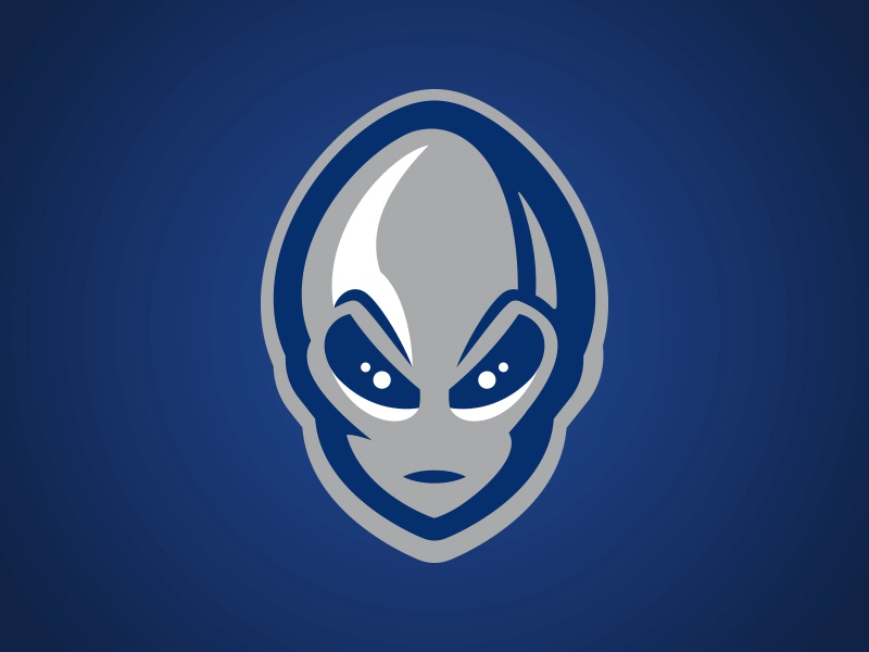Las Vegas 51s Alien Concept planet extraterrestrial space eyes hand helmet baseball alien illustration logo