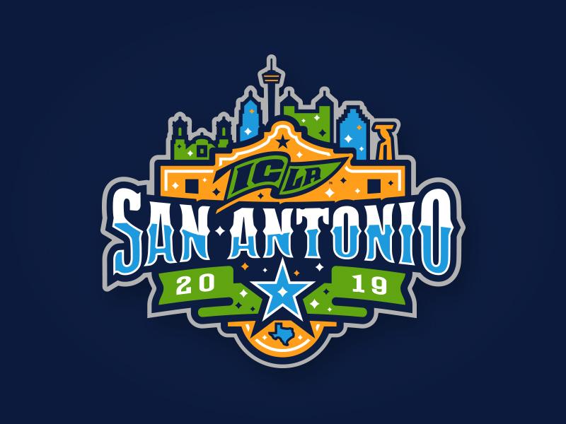 2019 ICLA San Antonio custom typography window ribbon alamo cityscape 2019 san antonio star texas illustration design