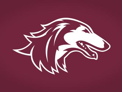 Southern Illinois University Saluki running tounge teeth white animal maroon dog saluki