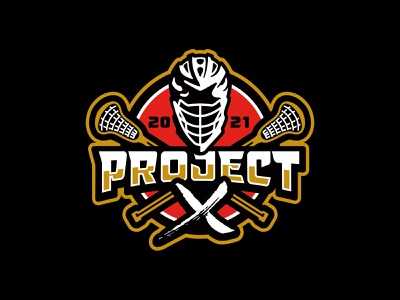 Project X Lacrosse circle samurai lacrosse logo lettering sports typography athletic custom illustration design