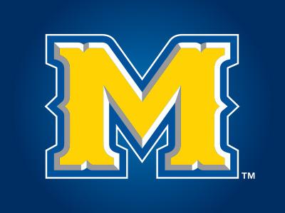 McNeese State University m bold gold blue western custom font
