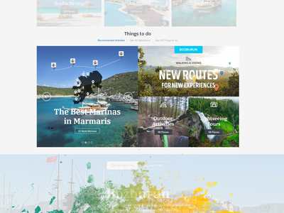 things to do view in a tourism portal portal tourism layout website web ui corporate