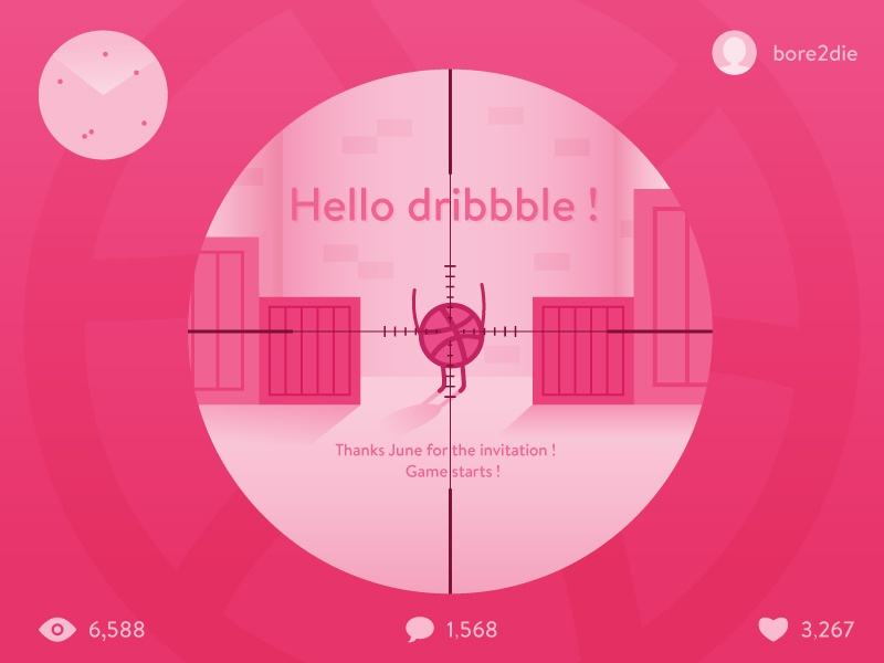 Hello Dribbble brenttton thanks illustration debut ui shot first dribbble hello