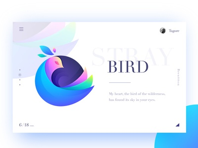 Bird brenttton web logo vector typography poster illustration graphic gradients wings colors