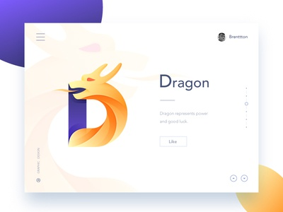 D&Dragon brenttton web logo vector typography illustration graphic gradients loong colors