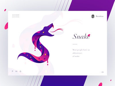 S&Snake brenttton ferocious logo blood tails vector typography illustration graphic gradients colors