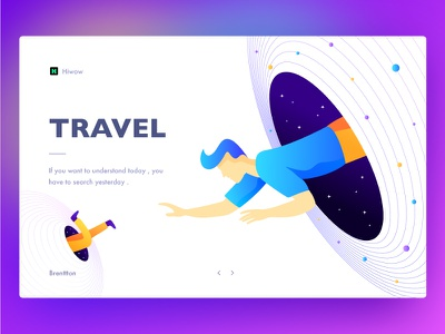 Time Travel time travel universe stars space galaxy illustration hiwow gradients colors brenttton