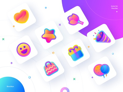 Icons for HuaJiao (1) huajiao icons set gradients brenttton