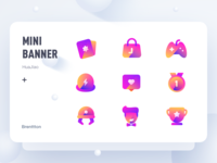 Icons for HuaJiao (2) icon set huajiao gradients brenttton