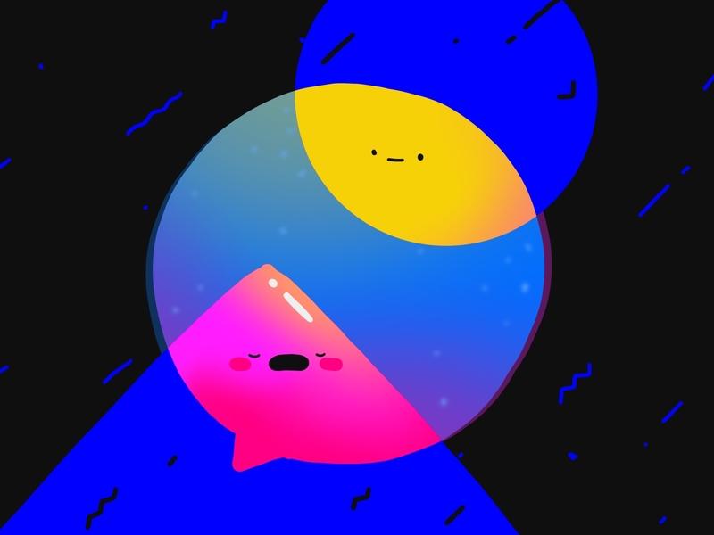 The Talk artist art chat talk conversation illustration geometric character characterdesign procreate app
