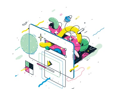 CSS editorial digital swatch bright frontend development programming web design illustration vector