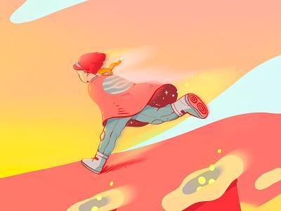 She ran illustration art concept animation fox close up procreate character anime art detail illustration