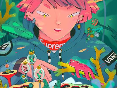 Today's Magic digital illustration ipad art nature anime procreate character illustration character illustration art illustration