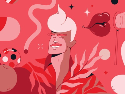 Tropi-Ken character design geometric tropical toothpaste smile colgate branding character illustrator detail bright fun flat vector illustration