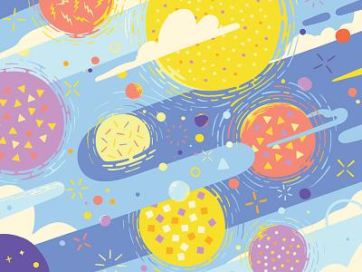 Particles design 90s 80s art illustrator sphere particles pattern fun illustration flat vector