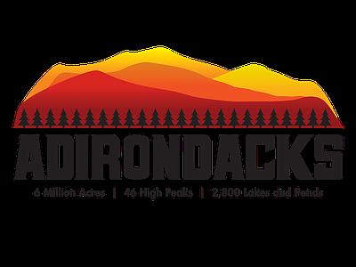 Adirondacks logo graphic design shirt design adirondacks