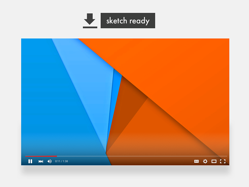 New YouTube Player - Free [.sketch] download download free sketch player youtube