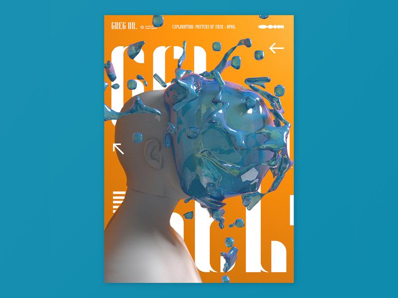 Gel splash gel cinema4d typogaphy poster graphic design