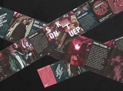 Skontu EP mini brochure branding geometric dark typogaphy poster design graphic design