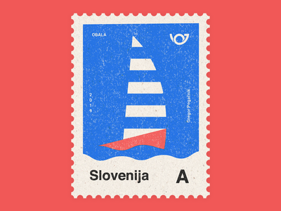 Slovenia - Country of 4 landscapes stamp collection: Coastline