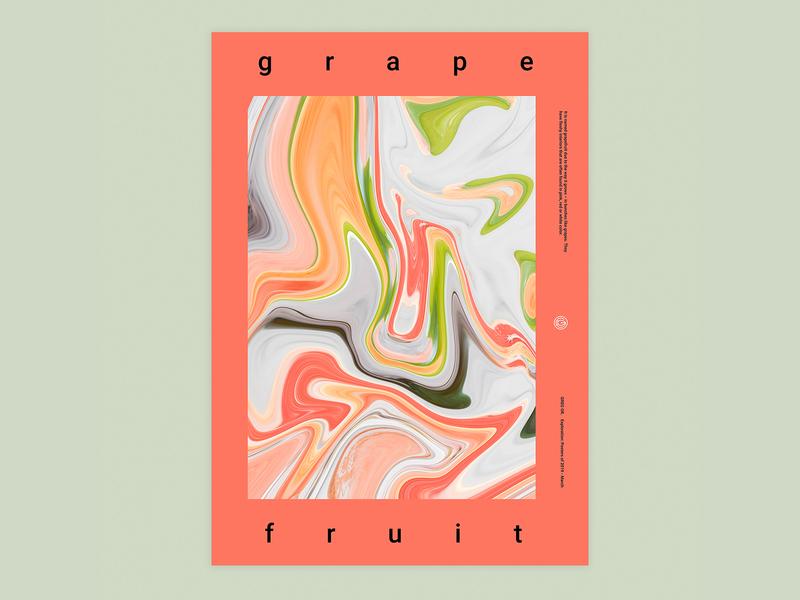 Grapefruit typogaphy colorful poster graphic design design
