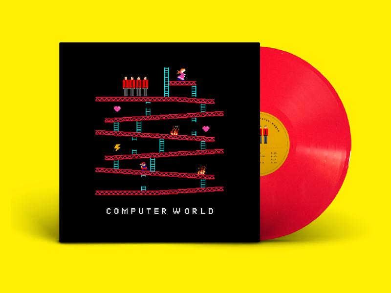 Kraftwerk - Computer World cover redesign vinyl 8bit retro colorful design graphic design