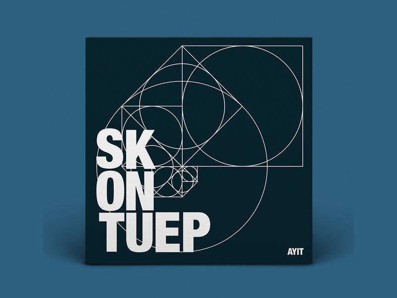 Skontu EP music album cover geometric albumartwork graphic design typogaphy geometry album art album cover