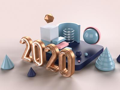 2020 colors geometic 3d art pop dimension adobe dimension 3d 2020 adobe