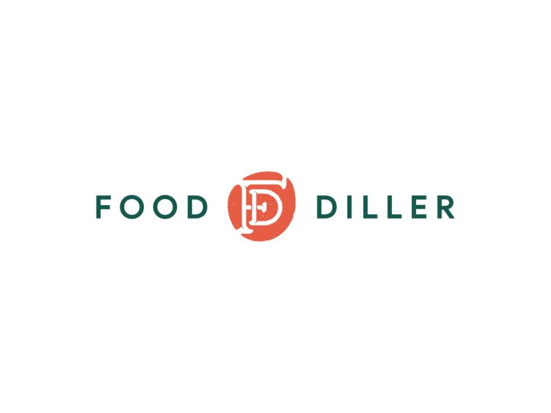 FoodDiller logo vector foodie food and drink branding design ukraine graphic logotype logo dealer diller food