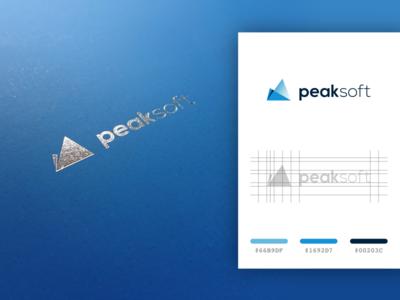 PeakSoft - logo for an accountant company
