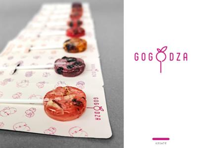 gogodza - logo for a candy company