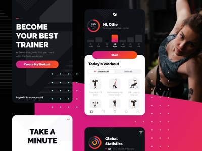 Workouts android ios trainers trainer workout branding flat dailyui design challenge app ui