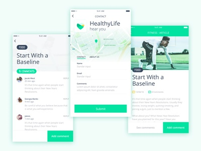 Healthylife theme app :: Kingofapp sport sketch mobile life messages comments kingofapp contact healthy