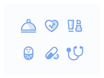 Icons for Pharmapp shop pharma doctor medicine baby kid kingofapp icons