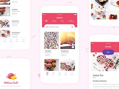 Sweetapp theme :: Kingofapp app cookies sketchapp shop sweet styleguide style kingofapp ui ui design