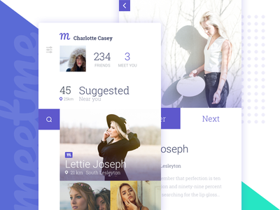 Meetme :: app friends ui design ui women girls meet app