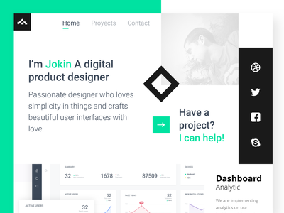 Just an a idea portfolio ui flat design ux