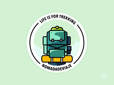 Nomadadeviaje Sticker 01 travel trekking nomadadeviaje affinity affinity designer illustraion flat stickers sticker