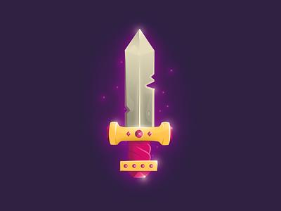 Sword affinity designer affinitydesigner icon sword 2d art ipadproart ipad pro ipad flat vector illustration challenge daily