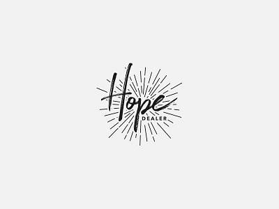 Hope Dealer logo sunburst sun rays burst inspiration hope