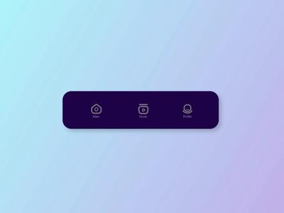 animated icons bottom bar