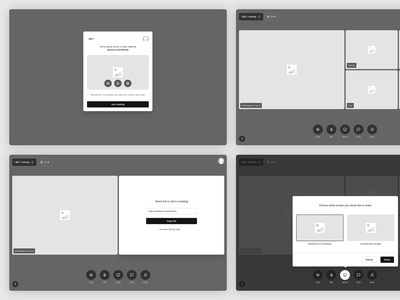 Tetrisly For FIGMA! - Example of Use - Video Chat atomic design wireframes mockups app components design system interface messenger video chat sketch freebie atomic ux web form mialszygrosz