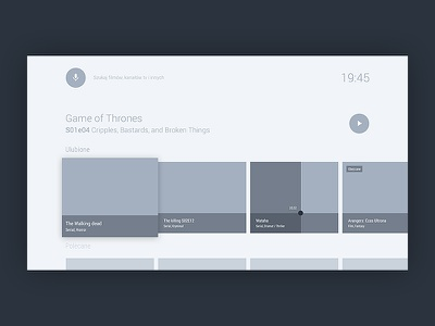Wireframes - android tv practices mialszygrosz design material tv android