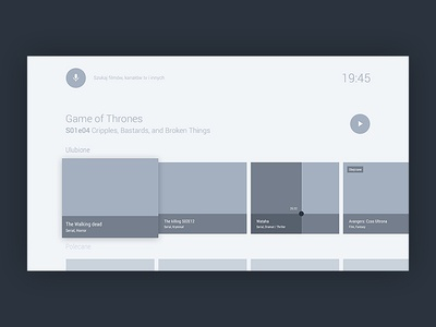 Wireframes - android tv practices