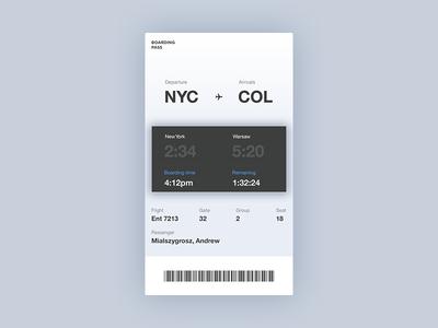 Boarding Pass app mialszygrosz